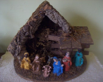Beautiful Christmas Nativity Set Creche Manger Scene Made in Italy