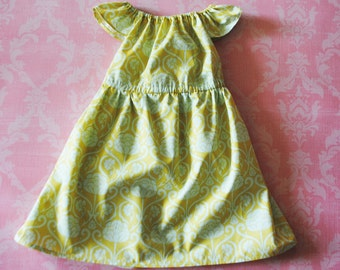 ON SALE! Paint by Numbers (yellow) nelle dress, size 12mos.-8 girls