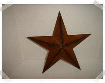 "Metal Rust/Black Color Star/8"" wide/ Primitive/ Craft Supplies*"