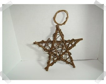 "Star Grapevine Ornament/ Wall Decoration /6"" /Craft Supplies*"