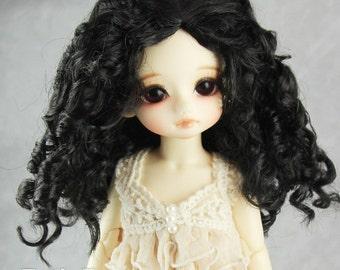"""Fatiao - New Dolls Wig Dollfie Yo-SD 1/6 BJD 6-7"""" size - BLACK"""