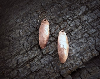 Distressed Copper and Brass Earring