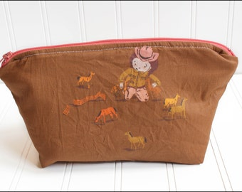 Cowgirls and Horses Cosmetic Bag