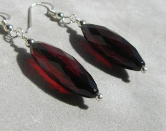 Faceted Cherry Amber Earrings