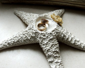Starfish Ring Bearer Ring Pillow Beach Wedding Ring Holder Pillow Alternative Bowl Dish Plate Unique