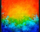 Splatter 2 - 24 x 24 - Abstract Acrylic Painting - Fine Art Contemporary Wall Art - Vivid Colorful Small Square Modern