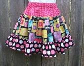 Geo Flowers Twirl Skirt