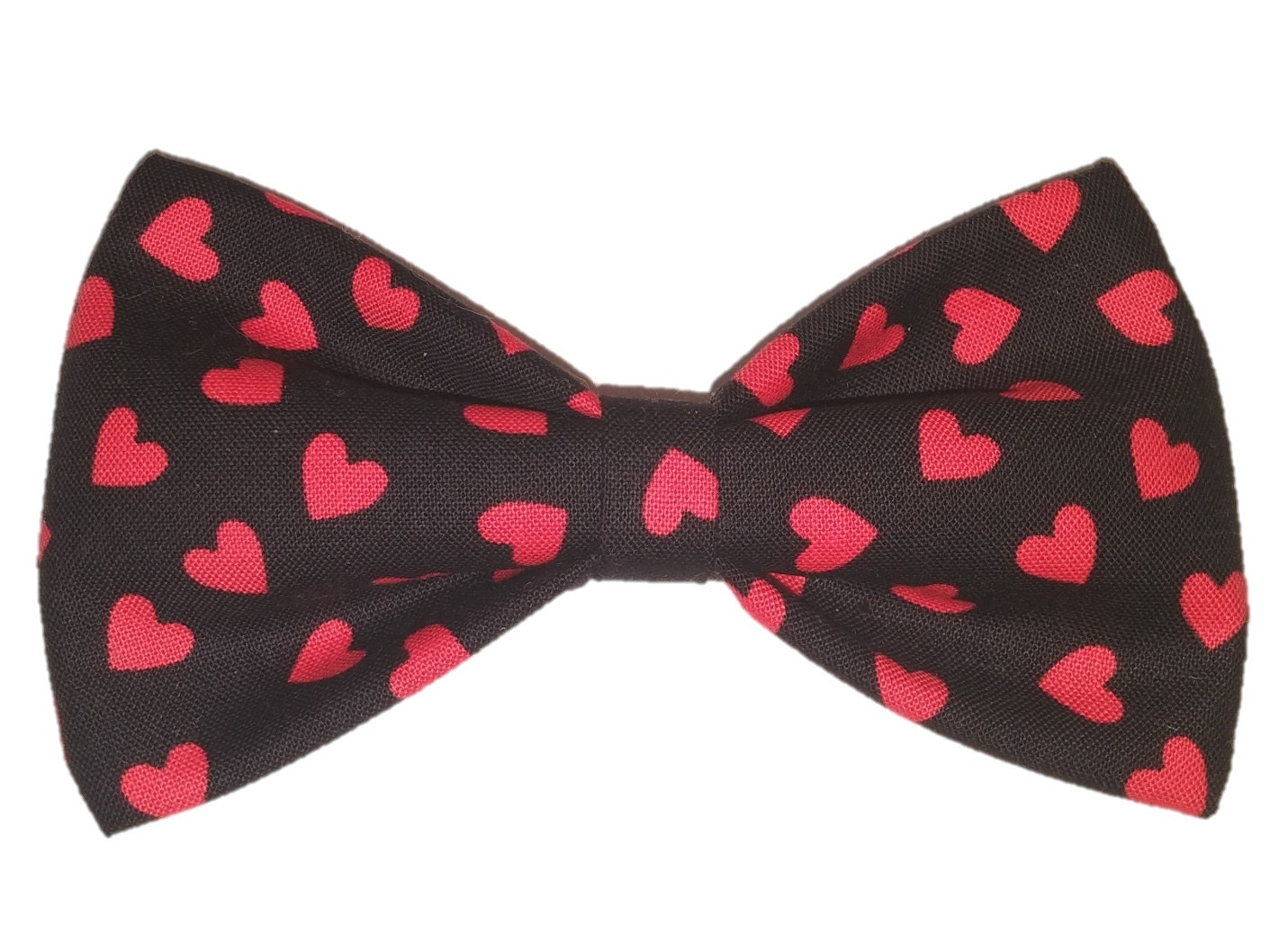 Red Hearts Bow Tie Valentine Dog Bow Cat Bowtie Wedding