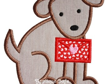 905 Valentine Dog 4 Machine Embroidery Applique Design