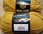 Yarn sale, Wool-Ease worsted weight yarn, gold, yarn destash, knitting yarn, machine washable