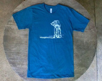 Star Wars T-Shirt AtAt Walker Screen Print Design on American Apparel Organic Cotton Unisex / Men's Tee