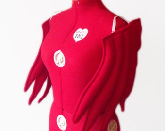 Chicken Wings, Costume, Red, Wear on arms, Bird Animal Fly. Original design.