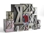 Letter K Set - Vintage Metal Letterpress