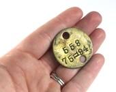 Vintage Brass Tool Tag