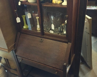 Antique Mission Oak Arts and Crafts Cabinet Secretary Shipping is NOT FREE!