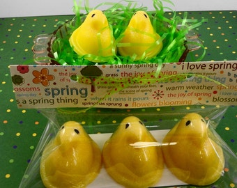 Soap - Easter Chick Soap - Easter Favors - Easter Basket - Gift Package - Soap Garden  - Spring Soap
