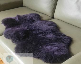 Genuine Rare Unique Handmade Mulberry Sheepskin rug