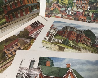 5 Galena, Illinois Prints by CH Johnson