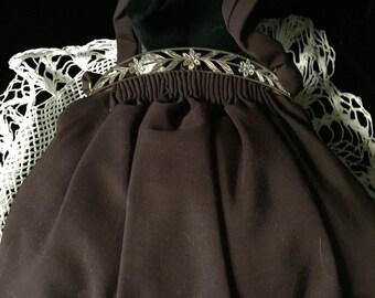 Vintage Brown Taffeta Handbag by Steffa