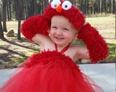 Elmo Halloween Tutu Costume Theme Birthday Child Toddler Dress outfit