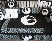 4pc Jack nightmare before christmas baby bedding - Free personalized pillow