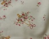 Yuwa Cotton Fabric PDF008A Roses Baskets on Cream