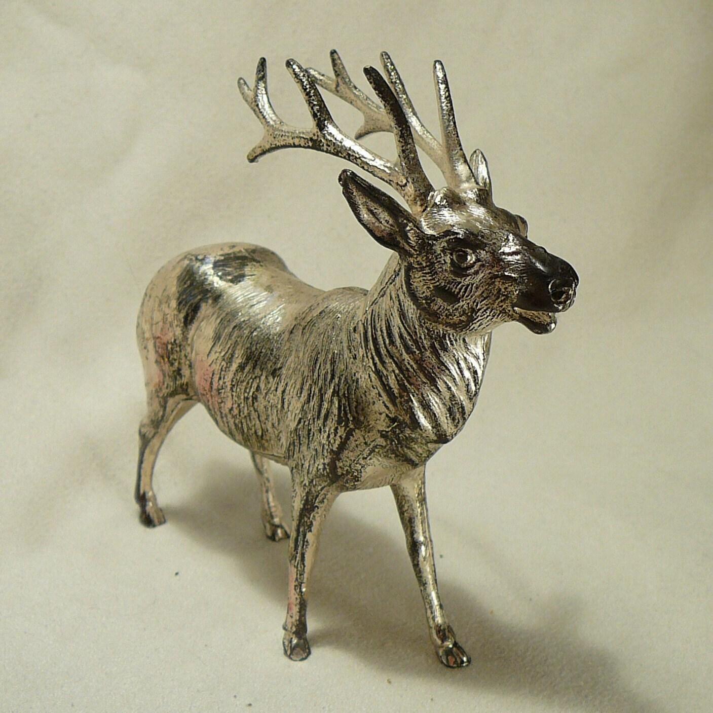 Vintage metal reindeer christmas by vintagejewelsandmore