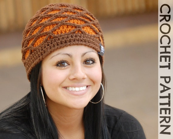 CROCHET HAT PATTERN Fishnet Beanie