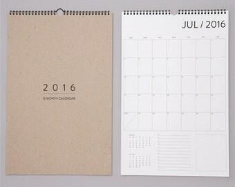 SALE. 12 Month Wall Calendar