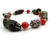 Handmade Jewelry Boho Chunky Bracelet, Australian Sponge Coral Bracelet-ccsdesigns01