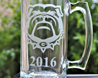 Custom Etched Glass Team Logo 24 oz Beer Mug Stein, for NLF Fanatics, Team Spirit, Favorite Logo, Custom Bar, Man Cave  by Jackglass on Etsy