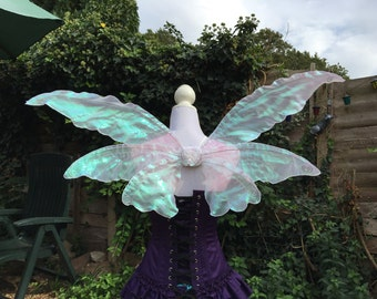 Smaller triple iridecent fantasy fairy wings