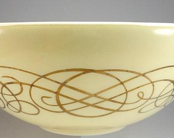 PYREX Golden Scroll Cinderella Mixing Bowl, 444, 1959, Four Quart, Baking, Kitchenwares, Replacement