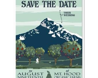 Vintage Mt Hood Orchard Save the Date - SAMPLE