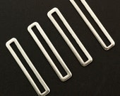 15 Stainless Steel Rectangle Links - 32mm X 6mm OD