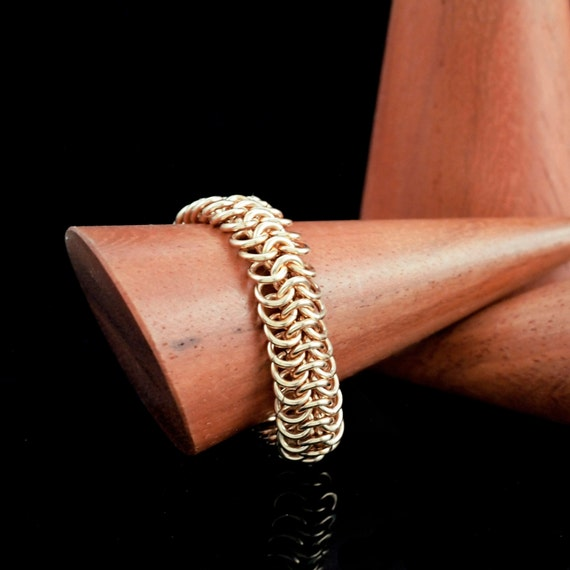 European 4 - 1 Solid Bronze, Brass, Stainless Steel  or Copper Chainmaille Ring Kit - Just Beyond Beginners and Intermediate