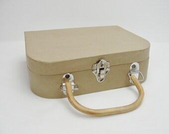 Paper mache purse, paper mache satchel, paper mache handled box