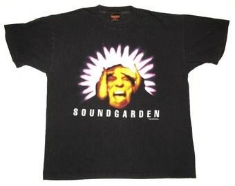 Soundgarden Vintage 90's Black Hole Sun Superunknown Concert T Shirt Grunge