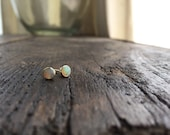 Opal Earrings, Opal Studs, 14k Opal Studs, Opal Bezel Earrings, Opal Bezel, Australian Opal, Cabachon Opal, Bezel Earrings, Bezel Studs