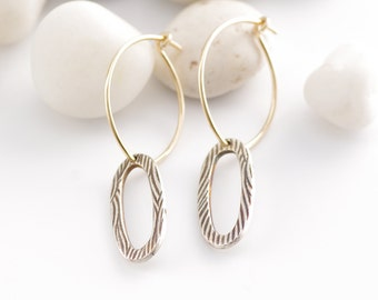 Comfy Gold and Silver Double Hoops