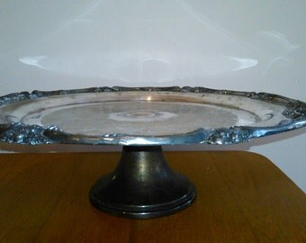 Silverplate Cake Stand King George 111