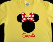 Personalized Disney Vacation Shirt - Personalized Minnie Mouse Shirt - Minnie Silhouette Shirt - Choose Shirt Color