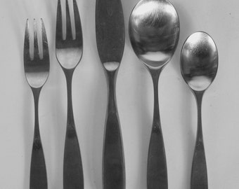 Lauffer Stainless steel MCM flatware