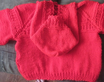 Custom Made Sweater hoodie-You chose color and size. Sizes from 1-5T