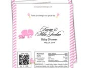 Baby Shower Candy Wrappers/Couples Baby Shower/foil included