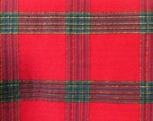 Red and Green Plaid table cloth Holiday tablecloth green and red Christmas table covering party decor holiday decor dining 52 x 62 in.