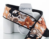 Cats Kittens dSLR Camera Strap, Replacement Strap, SLR, Mirrorless, Pocket, Kitty, Quick Release, Camera Neck Strap, 239