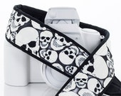 Skulls dSLR Camera Strap, Glow in the Dark, Canon, Nikon, Sony, GITD, Halloween, Goth, SLR, Mirrorless,Camera Neck Strap, 247