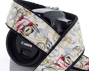 Postage, dSLR Camera Strap, Pocket, Stamps, SLR, Camera neck Strap, Canon Strap Nikon Strap, 88 a