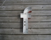 Industrial Letters - Vintage Metal Wall Letter - f - Salvage